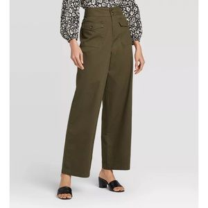 NWT Who What Wear Straight Leg High Waisted Pants